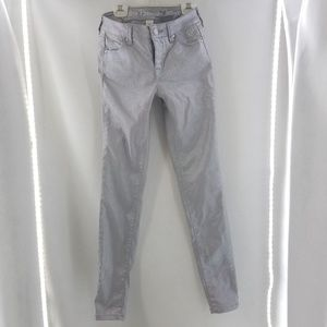 JUSTICE Silver Iridescent Rhinestone Jeans Sz 14S
